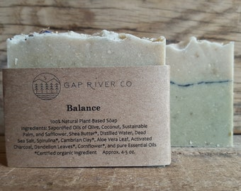 Balance // Herbal Cold-Process Soap // Old-Fashioned // Pure Essential Oils // Detox Clay and Sea Salt // Natural and Vegan