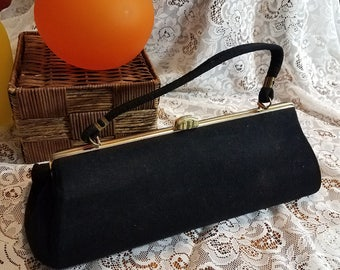Vintage Large Clutch Purse Evening Handbag