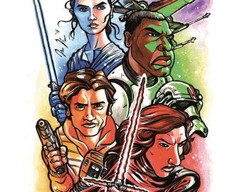 Star Wars The Force Awakens Print