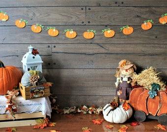 Pumpkin Garland - Thanksgiving Garland - Fall Garland - Pumpkin Bunting - Fall Banner - Thanksgiving Banner - Fall Decor  Thanksgiving Decor