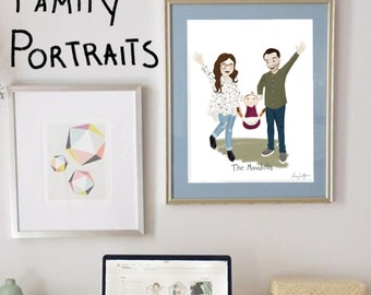 Custom Family Portrait Illustration