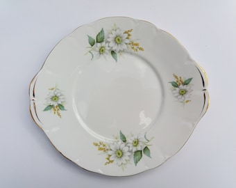 Vintage Duchess Bone China 'Felicity Daisy' Sandwich or Cake Plate, Serving Plate, Tea Party Plate