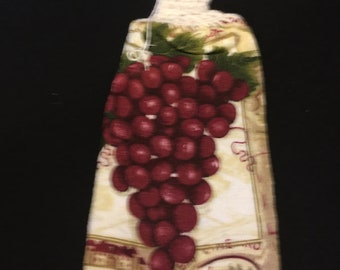 Purple Grapes Single Sided Kitchen Hand Towel Off White 1