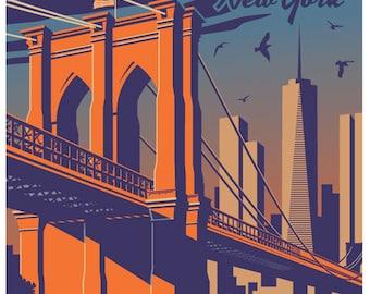 Brooklyn poster, Brooklyn print, Brooklyn wall art, Brooklyn art print, Brooklyn, Brooklyn art, Brooklyn art print, home decor