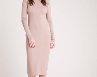 Midi Dress / Party Dress / Long Dress / Summer Dress / Long Sleeve Dress / Long Dress/ Casual Day Dress / Marcellamoda - MD0851