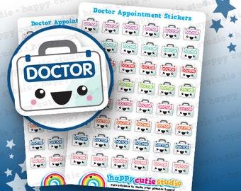 48 Cute Doctor/Appointment/Unwell/Medicine Planner Stickers, Filofax, Erin Condren, Happy Planner,  Kawaii, Cute Sticker, UK