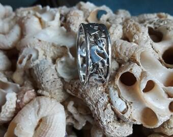 Sterling silver native American kachina ring, size 6