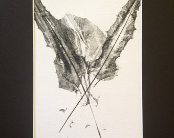 Leaves of Spring Monoprint #1