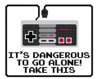 It's Dangerous Cross Stitch Pattern [Nintendo]