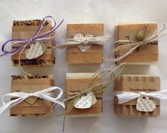 Wedding Favours - Organic Soap - Artisan - Hand-wrapped - Vegan/Vegetarian - Lavender/Chocolate/Rose/Orange/Ylang Ylang