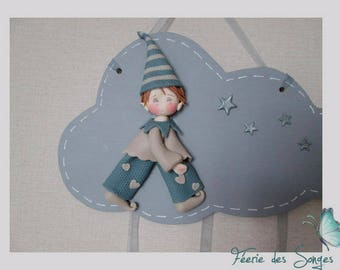 Cold porcelain, wood and felt Pixie cloud