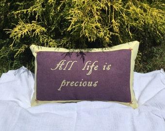 "The Walking Dead Morgan Jones ""All Life Is Precious"" Throw Pillow"
