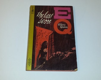 The Last Score Ellery Queen pbo 1964 1st PRINT | 1960s 60s | Vintage Paperback Book