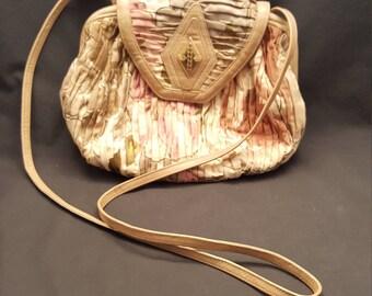 Vintage Sharif Handbag Floral Shoulder Bag Purse Made in USA