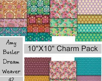 "SALE - Dream Weaver - Amy Butler - 10""X10"" Layer Cake Charm Pack - 42 PIECE BUNDLE - Cotton"