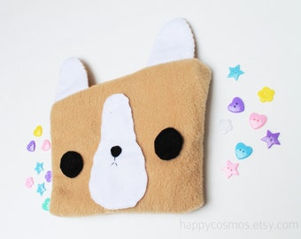Corgi Zipper Pouch - Pencil Pouch, Pencil Case, School Supplies, Make Up Bag, 3DS Case, Phone Case, Coin Purse