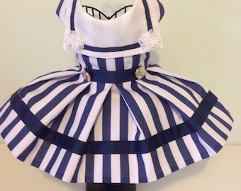 Sailor dog dresses for small breed dogs