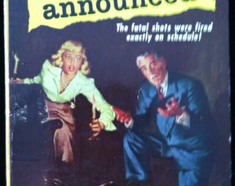 Vintage Paperback Pocket Book 820 A Murder Is Announced by Agatha Christie 1951 NM- Unread