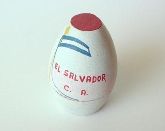 Vintage Souvenir Egg Shaped Miniature, Travel Souvenir, El Salvador, Miniature Travel Souvenir