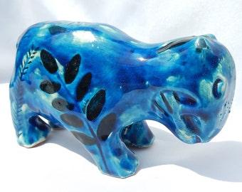 Old ceramic zoomorphic Creating Sculpture signed
