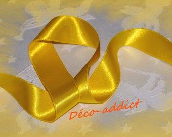 Yellow 25 mm satin ribbon