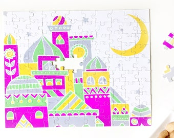 Islamic Games and puzzles, Islamic toy for children, Mosque puzzle, Masjid toy, Ameen, Ramadan, Eid, birthday, graduation gift