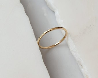 Simple wedding ring etsy 14k wedding ring gold simple ring thin wedding ring simple wedding ring thin gold ring thin wedding band junglespirit Images