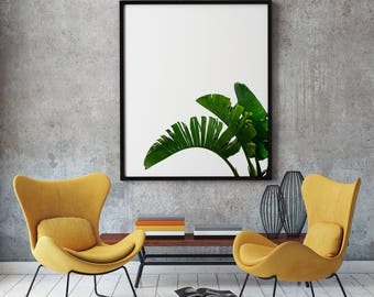 Palm Leaf Print, Tropical Leaf Print, Banana Leaf Print, Palm Leaf Art, Palm Leaves Wall Decor, Tropical Art Print, Printable Palm Leaf