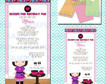Cupcake Decorating Party Invitations 8