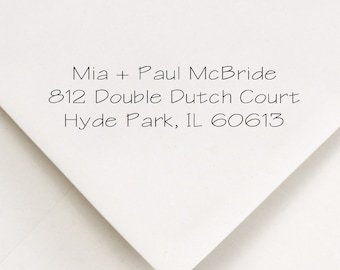 Return Address Stamp, Address Stamp, Personalized Stamp, Wedding Invitations Stamp, Self Ink Stamp, Personalized Stamp, Mia and Paul