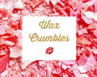 Wax Crumble, Soy Wax Melts, Eco Wax Melts, Scented Wax Melts, Highly Perfumed Wax Melts, Wax Bar, Wax Melts, Wax Tarts
