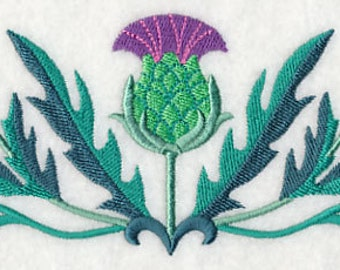 Thistle Embroidered Flour Sack Hand/Dish Towel