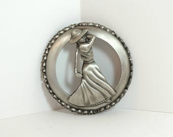 Fort Pewter Lady Golfer Candle Topper