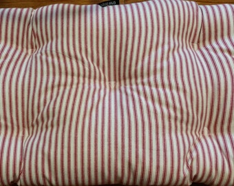 Red ticking stripe chair pad, seat cushion, other colors