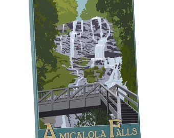 Steve Thomas 'Amicalola Falls State Park' Gallery Wrapped Canvas Print