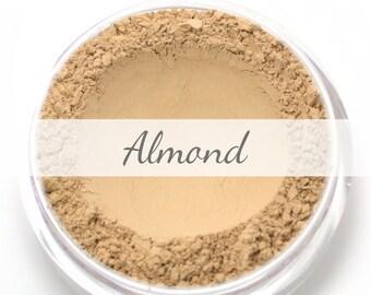 "Mineral Wonder Powder Foundation Sample - ""Almond"" - light to medium shade with a yellow undertone - vegan makeup"