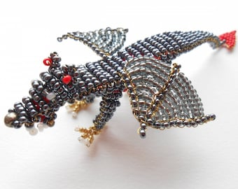 Panther Ailees black seed beads.