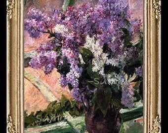 Lilacs Miniature Dollhouse Art Picture 1795