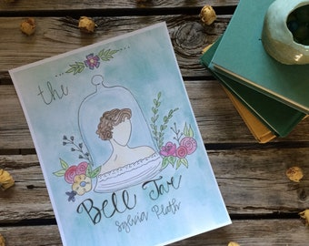 In the Jar Book Cover Art Print Sylvia Plath The Bell Jar-inspired Book Art Book Nerd Watercolor