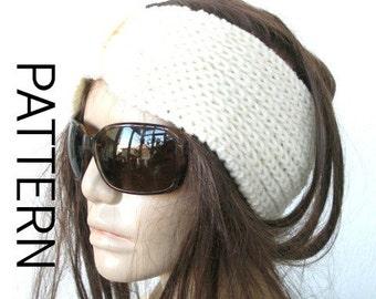 Knitting PATTERN  PDF  Digital Turban  Headband Pattern   Instant Download   Turban   Headband   Brioche Stitche Headband  -headband pattern