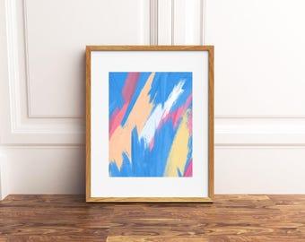 Crystals Abstract - Art Print