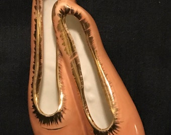Vintage Ballet Slippers Wall Hanging Ballerina Shoes Cottage Chic SALE PRICE was 20.00 now 14.00