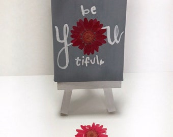 Be you tiful canvas art gift