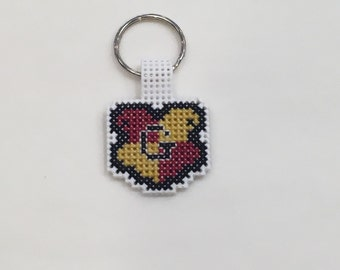 Cross Stitch Keychain: Hogwarts Houses