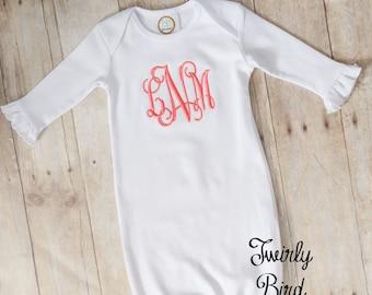 Baby Girl Gown - Newborn Girl Gown - Baby Gown - Baby Shower Gift Girl - Newborn Baby Girl