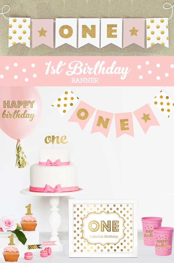 1st Birthday Banner Elitamydearestco