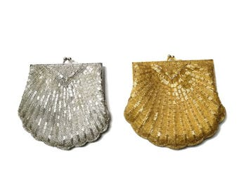 gold silver bead sequin trophy purse | instant collection
