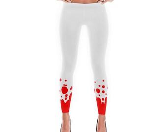Lava Leggings, Polyester and Spandex, Printed Leggings for Women