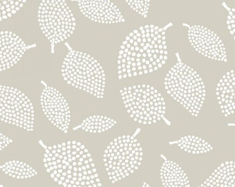 "13.5"" of Mormor Mist Nopp Leavesby Lotta Jansdotter for Windham Fabrics"