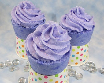 Bubble Bath Bomb Cupcakes, Teen Birthday Party Favors, Bridal Spa Party Treats, Solid Bubble Bath Icing, Gift for Foodie Friend, Bubble Bath